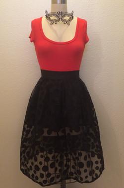 Repurposed Polka Dot Skirt