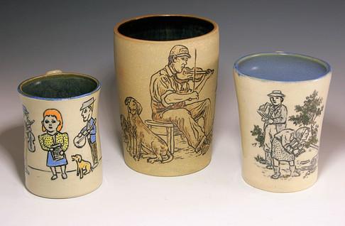 Incised Mugs