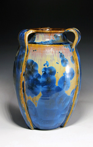 Crystalline Vase with Handles