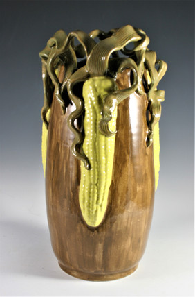 Sculpted Corn Vase