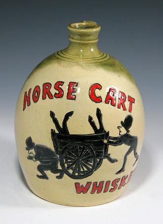 Horse Cart Whiskey Jug