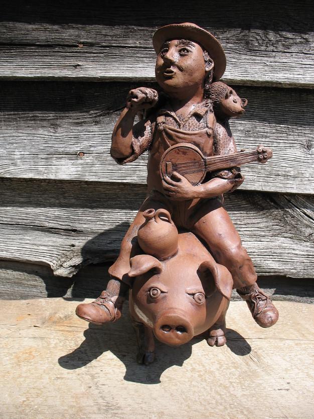 Pig Rider with Banjo