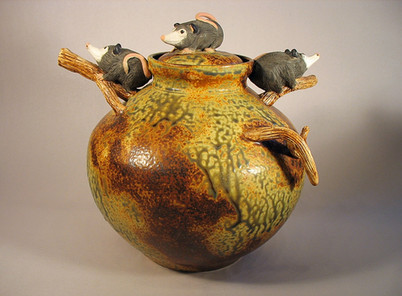 Lidded Possums Jar