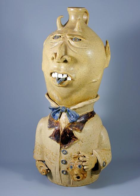 Devil Figure Face Jug