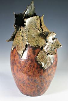 Sculpted Grapevine Vase