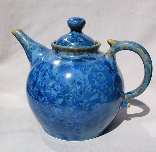 Crystalline Glazed Teapot