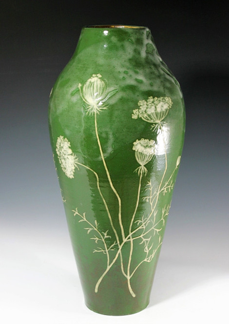 Tall Queen Anne's Lace Vase