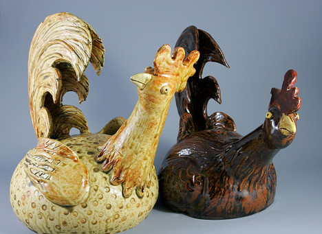 Folk Style Roosters