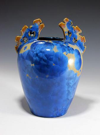Nickel Crystalline Vase
