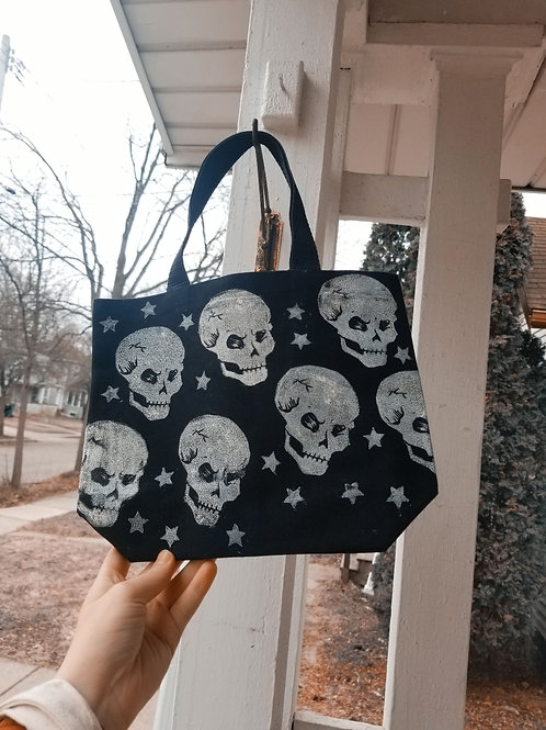 Skull and Star tote