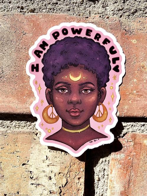 I Am Powerful Sticker