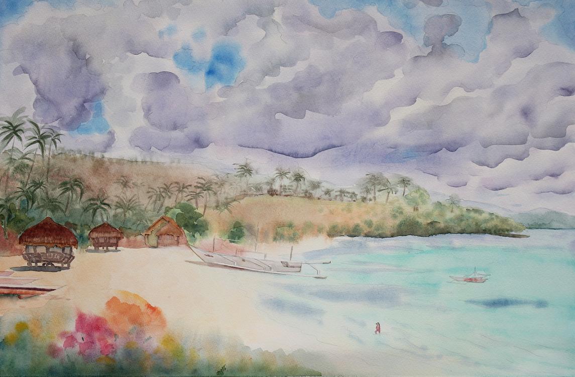 南国の浜辺(セブ島)