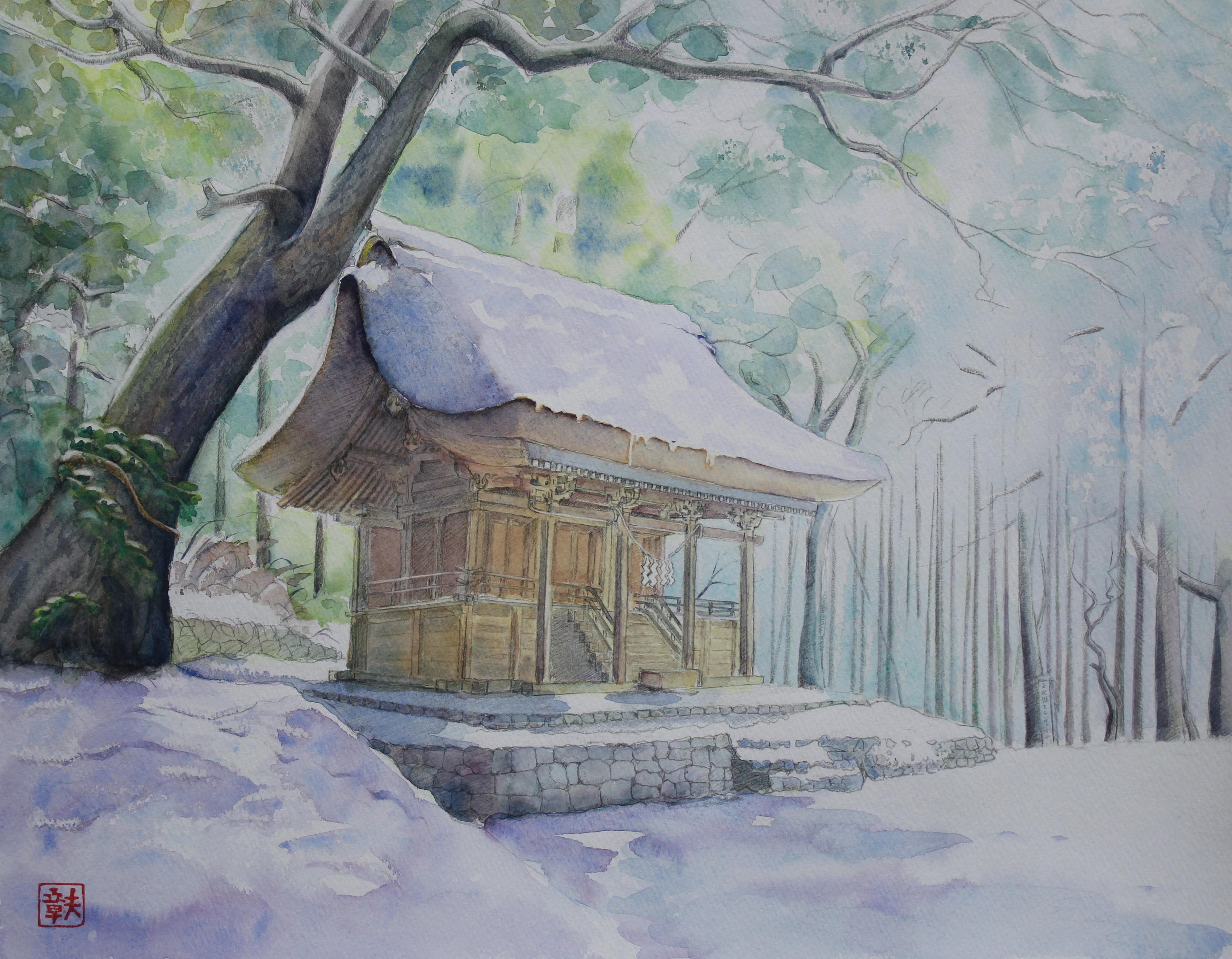 雪中綱神社