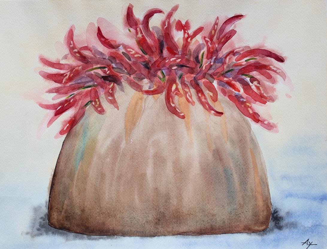鷹の爪と花瓶