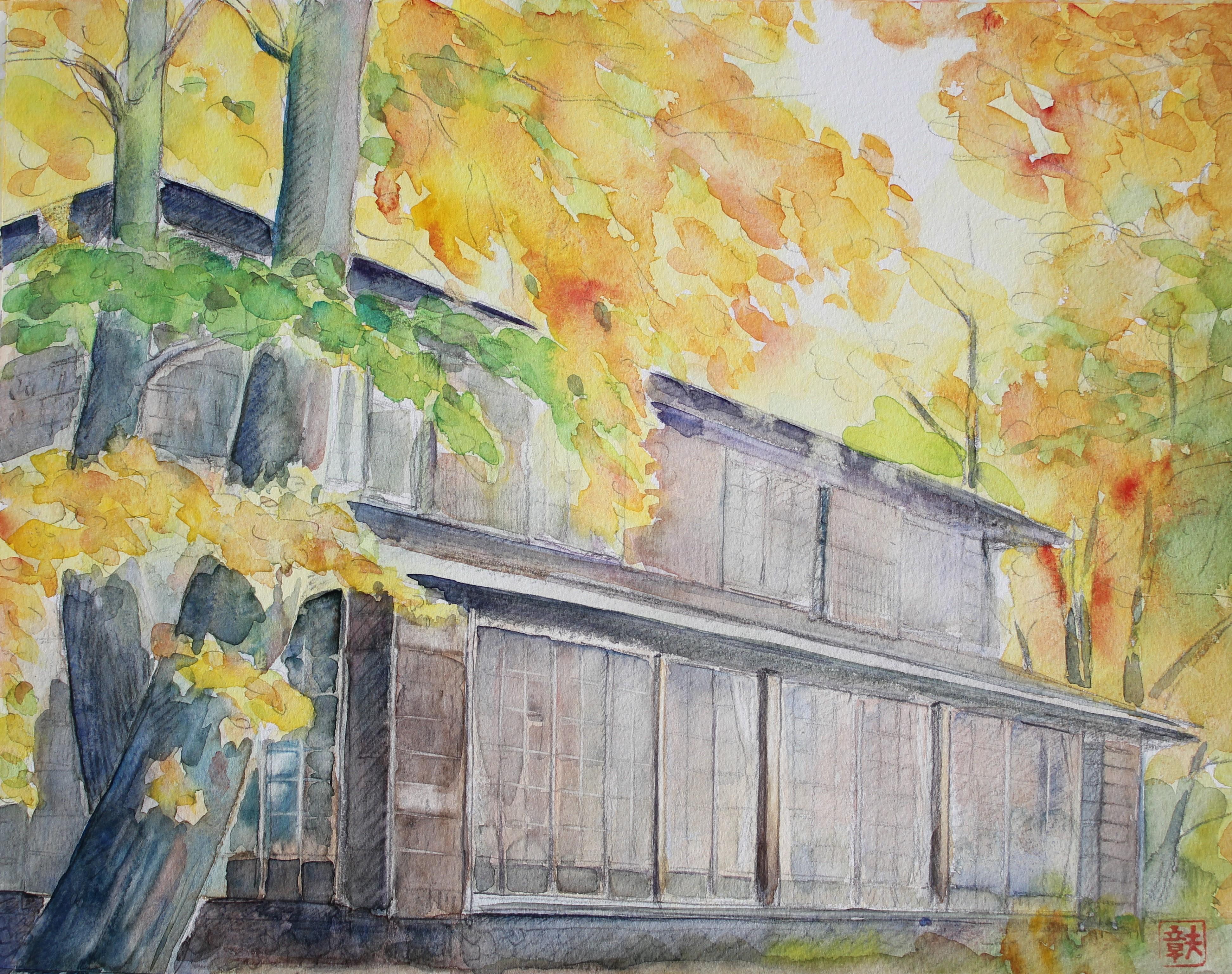 秋の山荘①