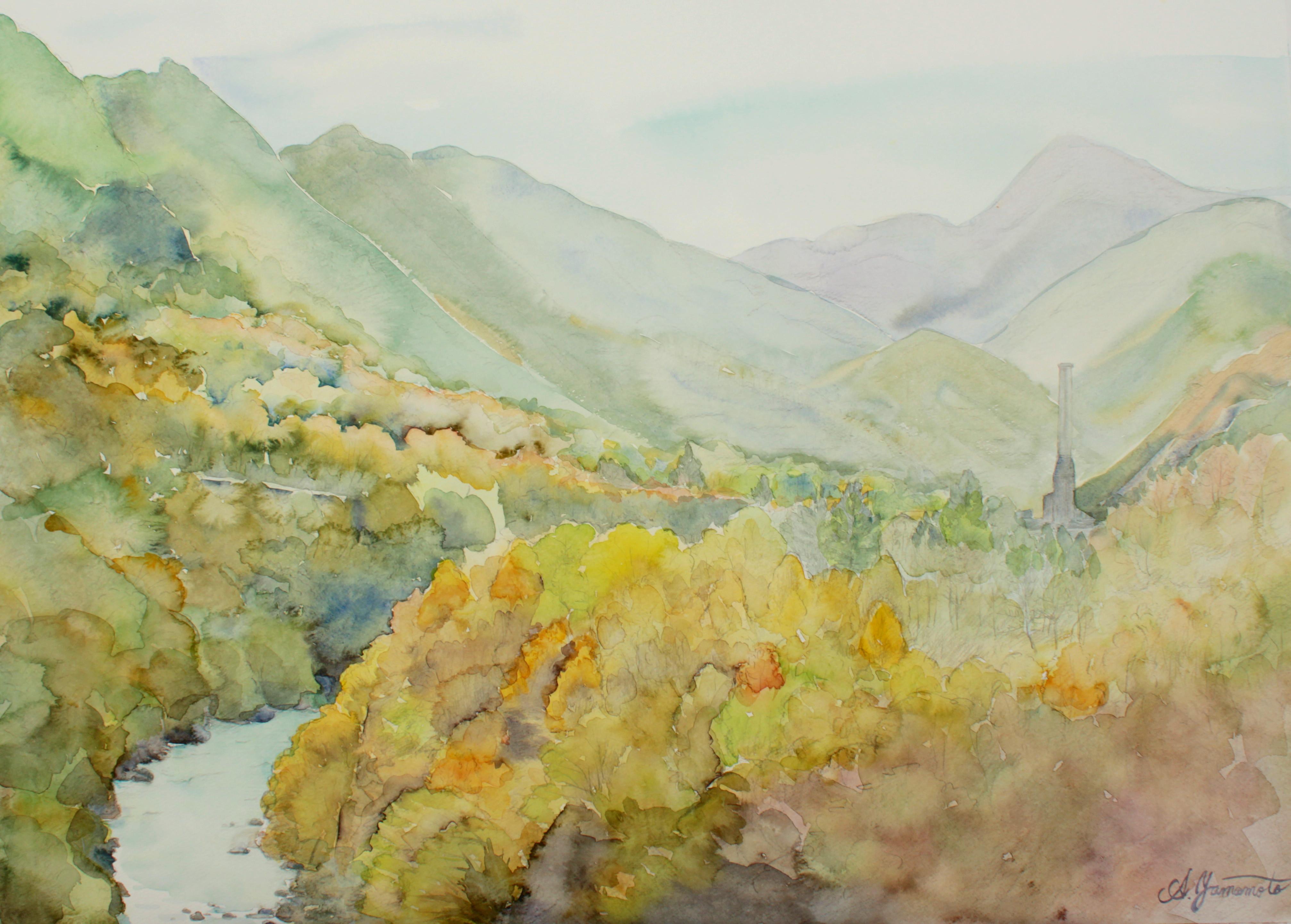 足尾銅山の秋