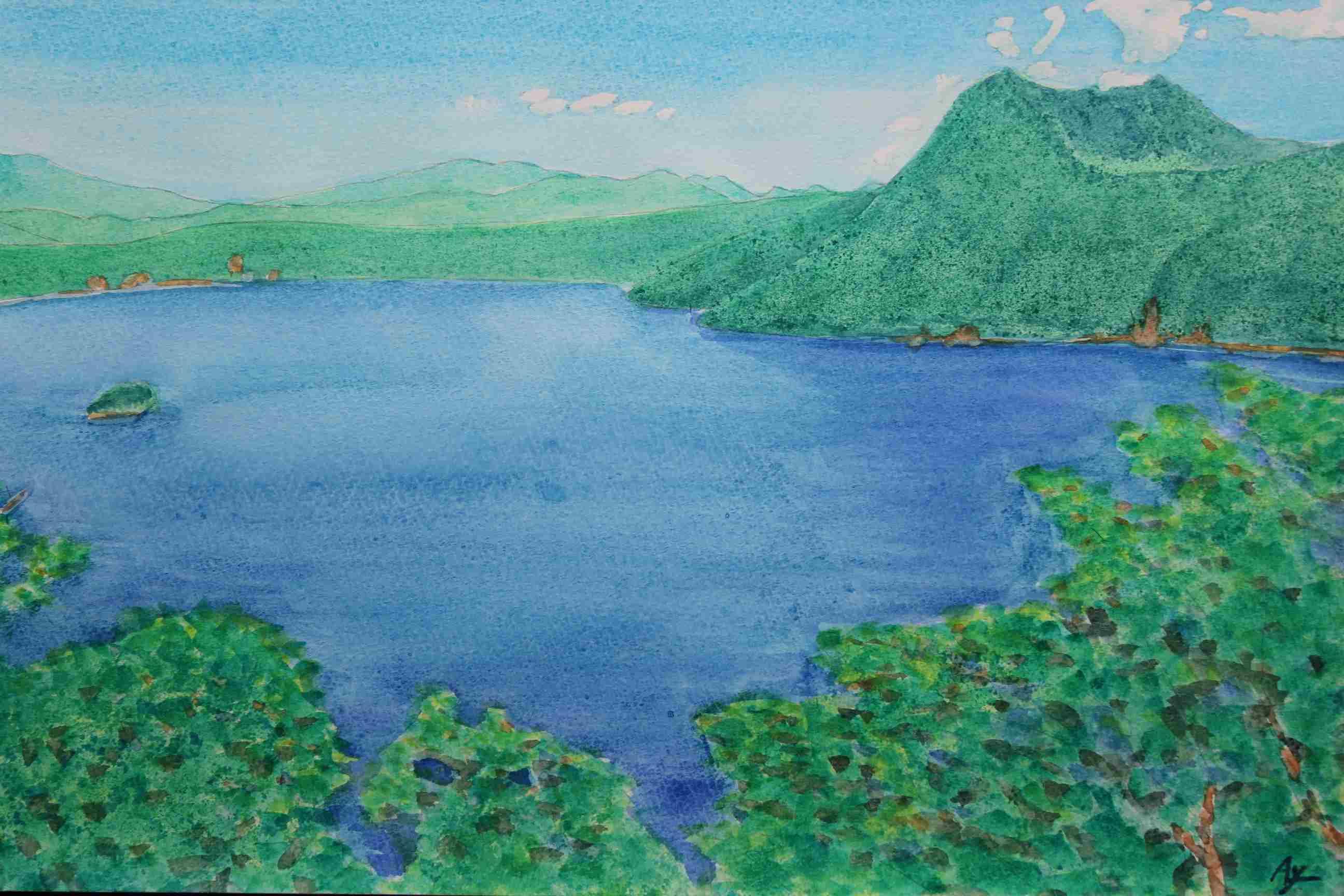 夏の摩周湖