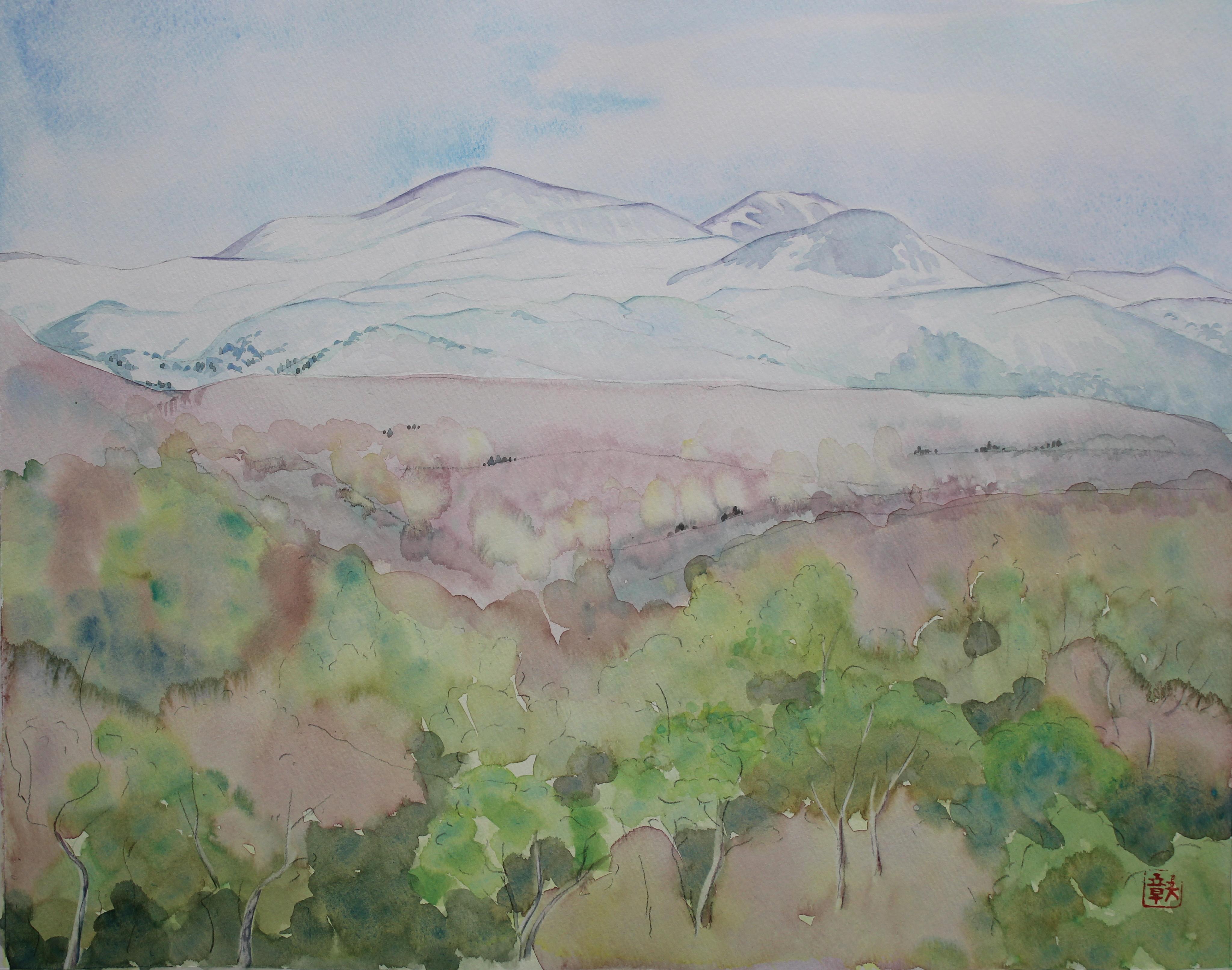 春の栗駒山