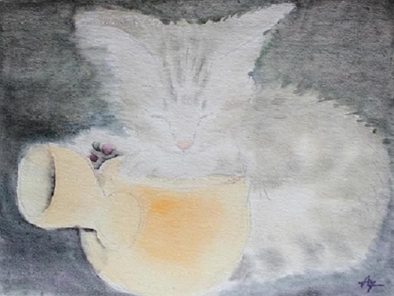 急須と子猫