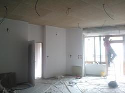 Faux plafond dalles de fibre de bois