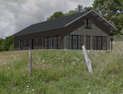 Maison à ossature bois à haute performance énergétique
