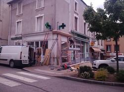 Pharmacie - Vitrine ext. chantier