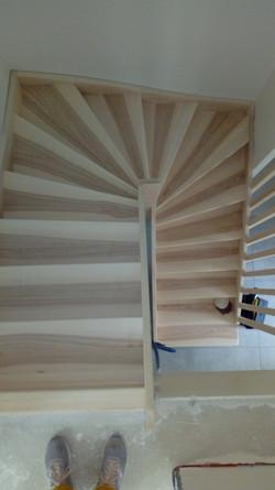 Vue de dessus de l'escalier