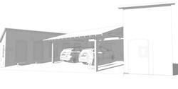 Construction d'un abri de véhicules