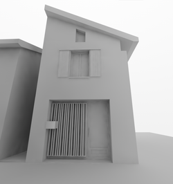 Vue 3D - Entrée côté rue