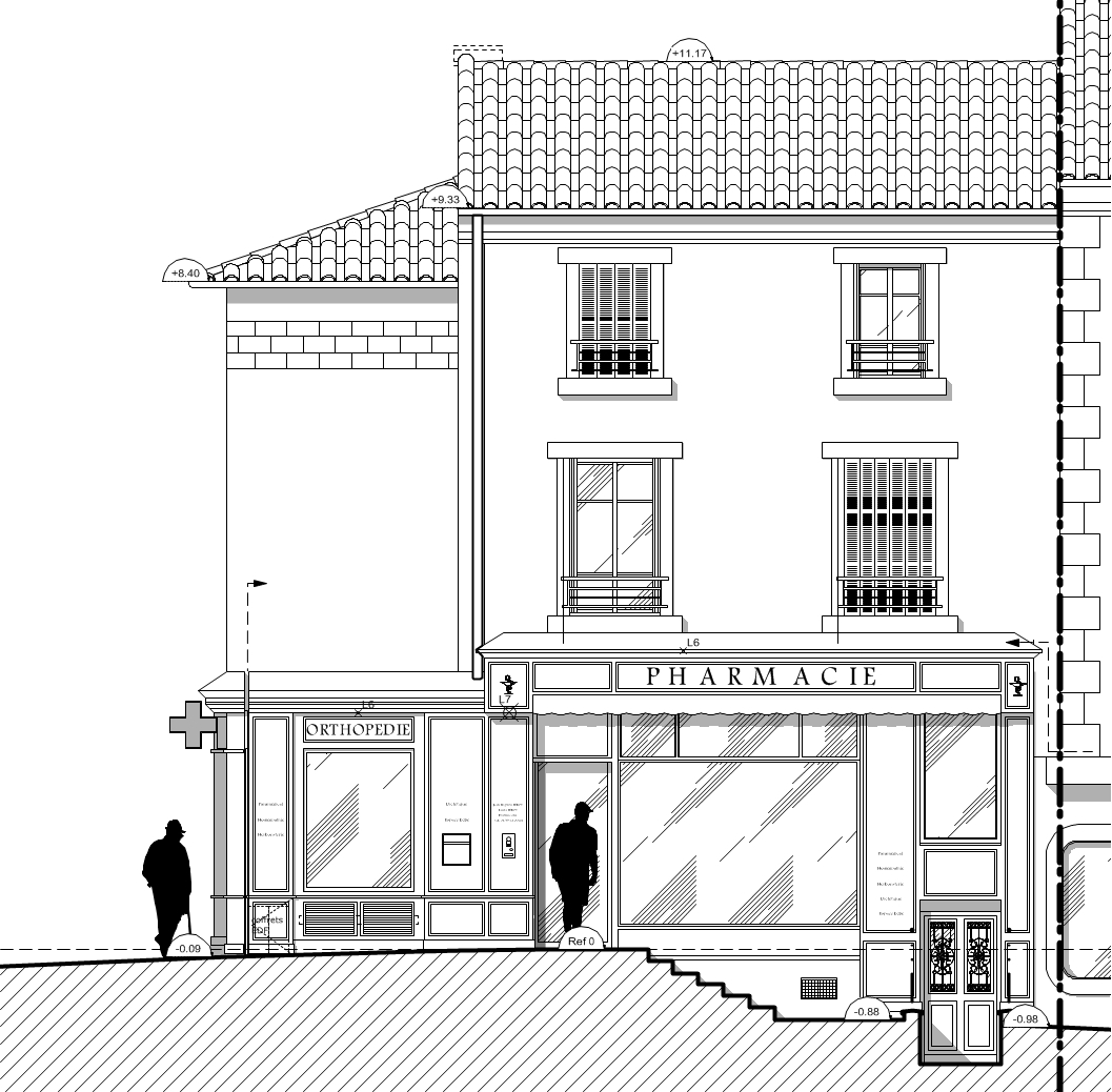Pharmacie - Projet façade Ouest