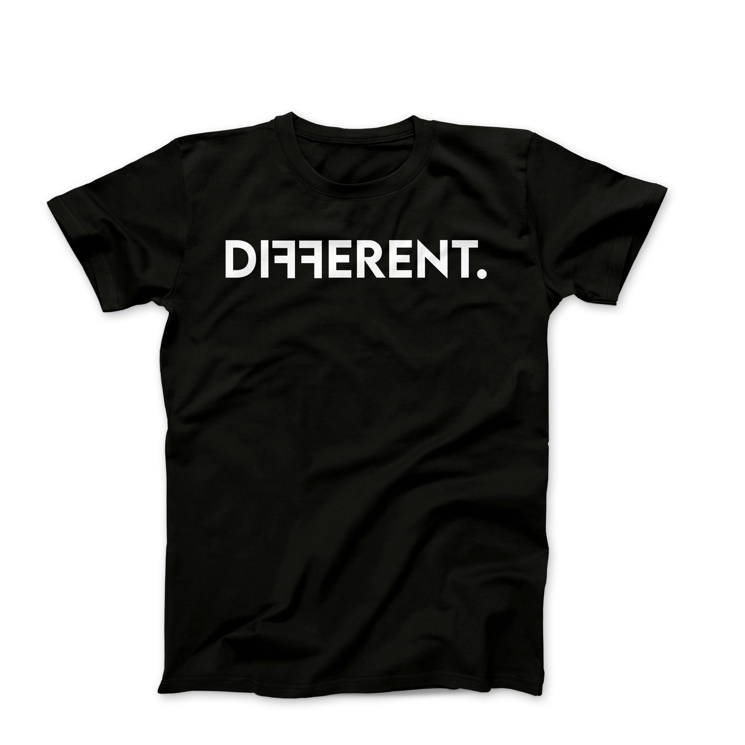 "Black Unisex ""Different"" T-Shirt"