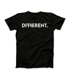 "Black Unisex ""Different"" T-Shirt"