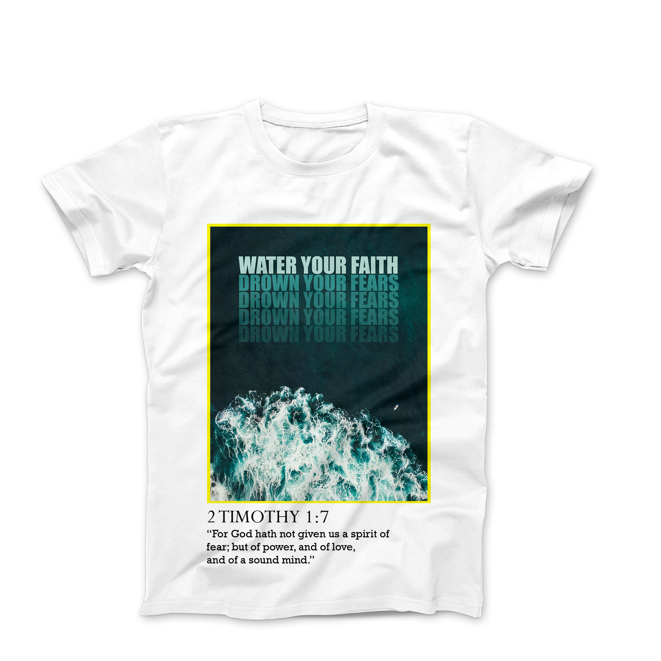 """WATER YOUR FAITH"" T-SHIRT-WHITE"