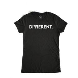 "WOMEN'S SLIM FIT ""DIFFERENT""T-SHIRT"