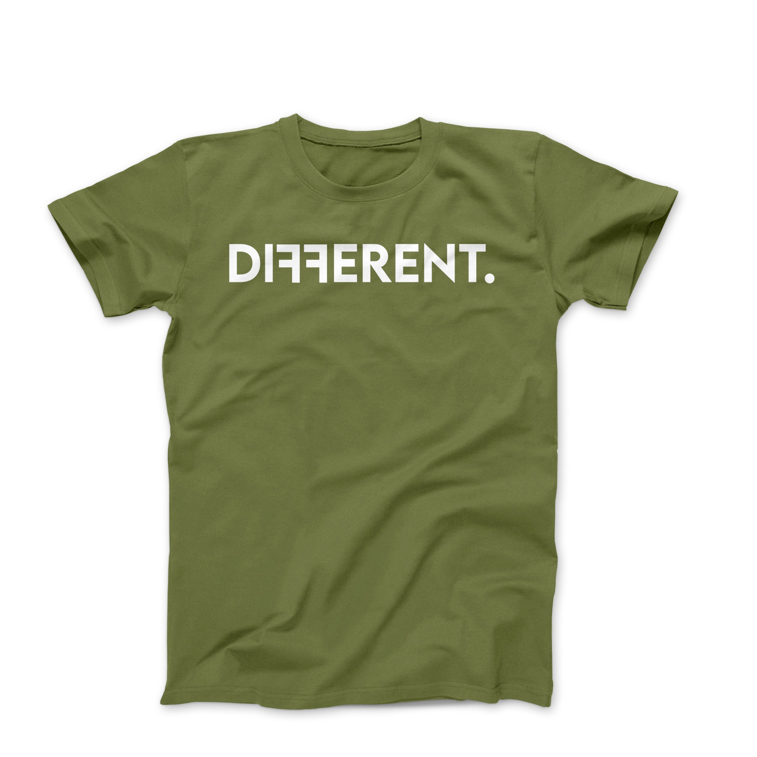 "Army Green Unisex ""Different"" T-Shirt"