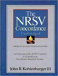 The NRSV Concordance Unabridged / John R. Kohlenberger III