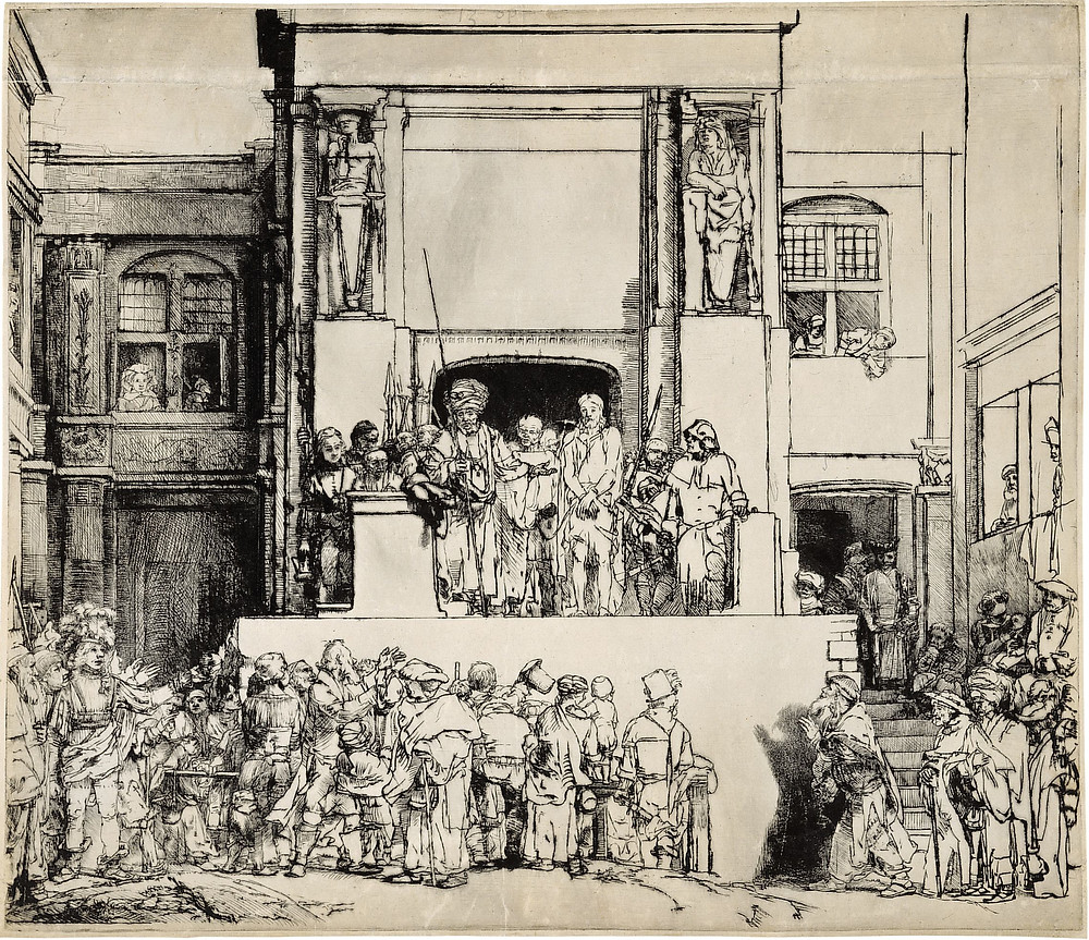Rembrandt, Jesus before Pilate