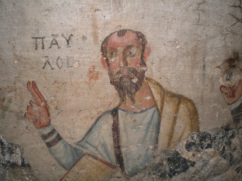 A fresco of Paul