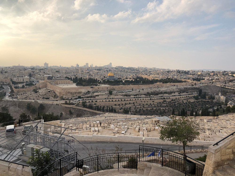 Overlooking Jerusalem from the Mount of Olives