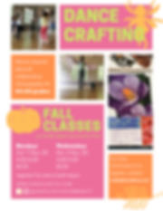 Dance Crafting Fall Classes 2019 Flyer.p