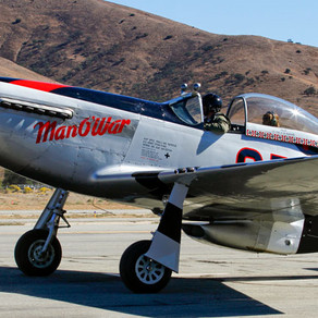 P-51 Mustang MAN O' WAR Now at  Palm Springs Air Museum