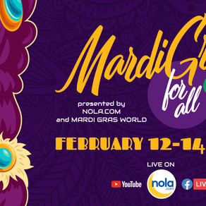THIS is the Weekend for a Virtual Mardi Gras for All, Y'All!
