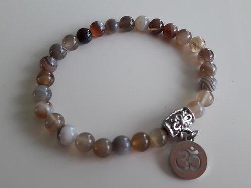 Bracelet en Agate du Botswana