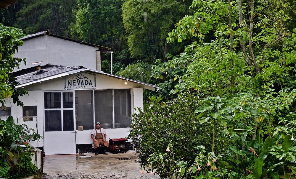 De koffiefabriek Victoria  in Minca Colombia
