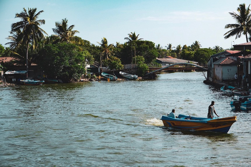 Vissersmannen in Negombo, Sri Lanka