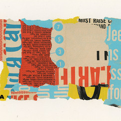 Street Noise Collage on Paper 5 x 7 inches (2019)