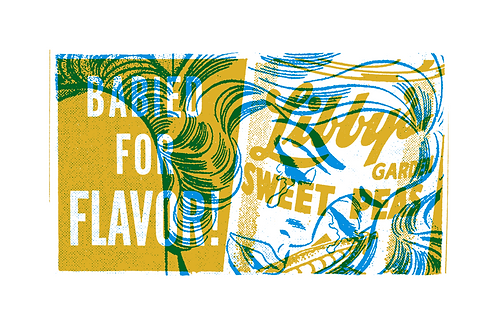 Babied for Flavor! serigraph