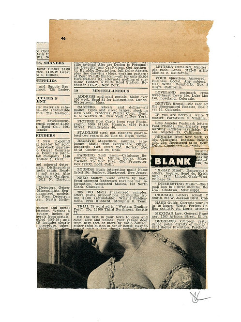 """Blank X-Ray Mind"" Original Collage"