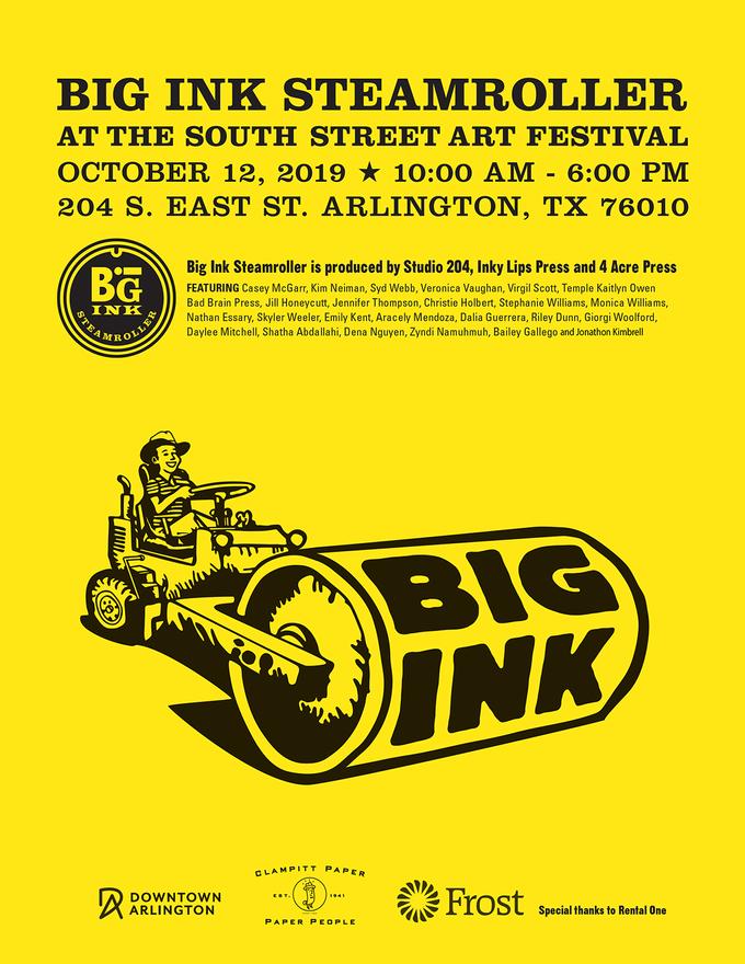 Big Ink Steamroller Print Event!