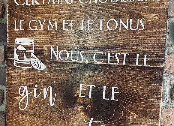 Gym ou gin?